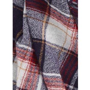 Madewell plaid print scarf